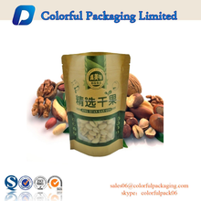 2015 Natural kraft paper standup pouch / snack nut food packaging bags
