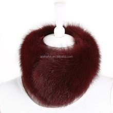 2015 New Fashion Ladies Winter Whole Skins Genuine Blue Fox Fur Scarf
