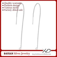 XD P849 Real 925 Sterling Silver Earring Threads with Long Chain