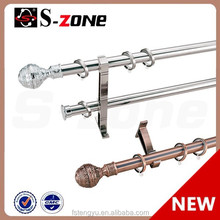Curtain Rod with Finial Bracket Popular Home Decoration Curtain Hardware Pole