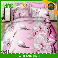 2013 new pattern pure polyester cheap bed sheets/flower design bed sheet/ fabric painting designs bed sheets
