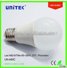 New Product 7W E27 Energy Star Dimmable LED Bulb Lights/Light Bulbs Led