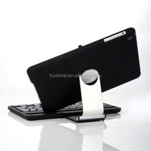 Brand Portable Slim Mute Swivel Flip Stand Wireless Bluetooth Keyboard Smart Covers For Apple ipad mini 1/2 Retina ipad 2 3 4
