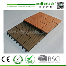 wood plastic composite interlocking plastic floor tiles