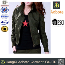 2015 Competitive Price Fashionable Military Jacket Woman