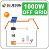 professional design easy install Bluesun off grid 1kw portable solar panel system