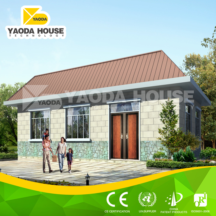 Low cost 2 story prefabricated house with modern house doors for Modern house 80m2