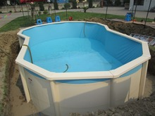 Grade A+ Galvanized Stainless Steel Above Ground Swimming Pool