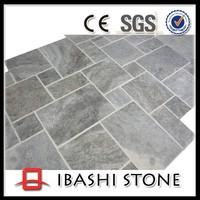 Silver grey travertine flooring