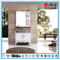 factory price single sink Stainless Steel bathroom cabinet cheap white