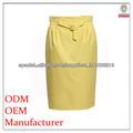 recto amarillo diseño de moda falda