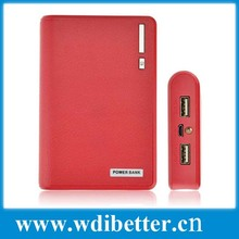 2014 Newest Wallet style power bank 20000mah with LED Lighting Power Battery External Battery Pack+USB Cable