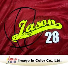 Basketball uniform heat transfer printing film