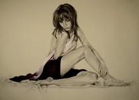 wall decor modern art nude woman body painting art