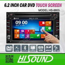 6.2 inch touch screen car 2din windows with gps and bluetooth for universal