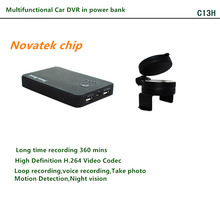 Multifunctional car DVR in in power bank hidden camera with voice recorder, long time recording hidden camera power bank