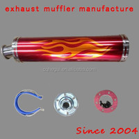 high performance stainless steel alloy motorcycle exhaust muffler parts