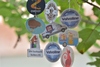 Christmas promotional gifts nice design car perfume paper air freshener
