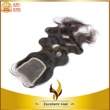 """Top Quality Beautiful Body Wave Virgin Brazilian Hair 4""""*4"""" Lace Closure Bleached Knots With Clip Accept Paypal"""