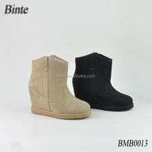 Beautiful high heel shoe snow boots shoes fur women' shoe