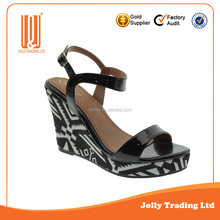 Latest design fashion platform ladies sandals shoes for women wedge sandals