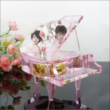 fashion beautiful crystal piano gift
