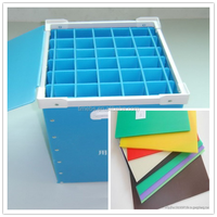 2014 new product pp corrugated plastic box with lock and key