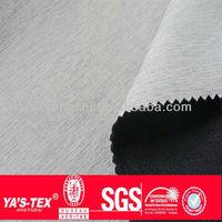 Waterproof cationic fabric 100% Polyester+100% polyester vwhite fleece 325 GSM bonding fabric
