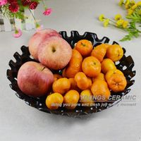 Very Beautiful Chinese Ceramic Hand Painted Crafts Gold Silver Fruit Tray Plates