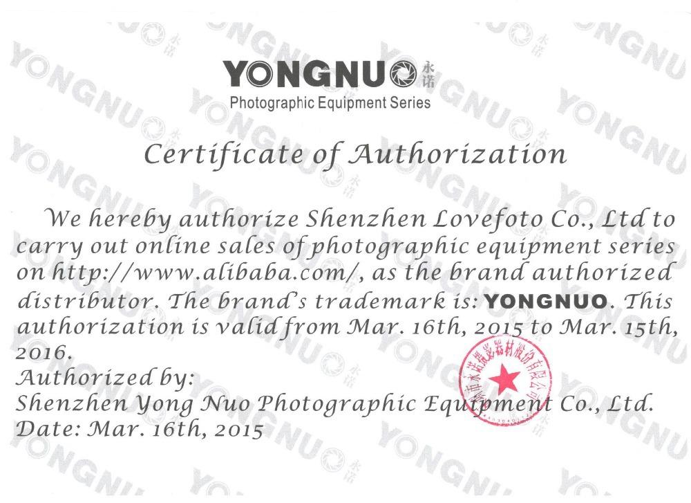 YN Authorized Certificate