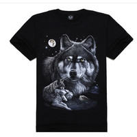 Bulk Wholesale Fashion Clothing 3D T-shirts 3D Picture Top Quality 3D Printing T-shirt For Men Alibaba China Supplier LOW MOQ