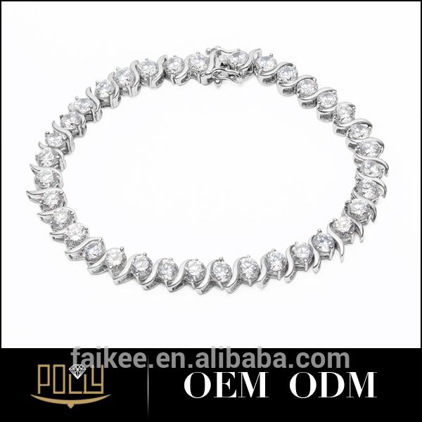 Nova bracelete de ouro zircão modelos pulseira de prata pulseira festa charme jóias