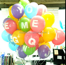letter printed latex balloons for events and deorations