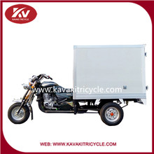 2015 new hot sale 150cc 200cc air cooled gasoline powered tricycle for cargo with closed carriage box cheap for sale in china