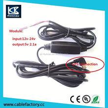 12v to 5v micro usb output power converter