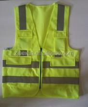Cheap reflective safety vest with pocket
