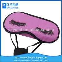 Customizable cute purple satin sleeping overnight eye mask with heat transfer imprint