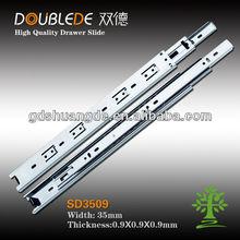 corredera de metal triple de 35 mm para cajón de cierre automático