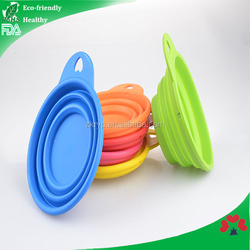 China Supplier New Product Food Grade silicone dog cat pet animal collapsible dog bowl