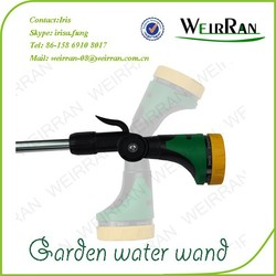 (803) Alunimum tube 16'' TPR covered rotary plastic 8 function heavy duty watering home and garden sprayer nozzle