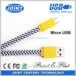 Factory price colorful micro USB cable micro 5pin USB for Android phone