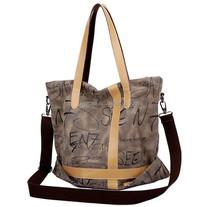 New Arrival Fashion Unique Style Large New Womens Shoulder Bags Handbag Ladies Vintage Canvas Crossbody Totes bag