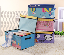 cute fabric 420D oxford storage box with lid