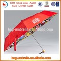 componentes paraguas 21inchx8k tres veces de apertura manual de sexo niña hermosa paraguas imágenes