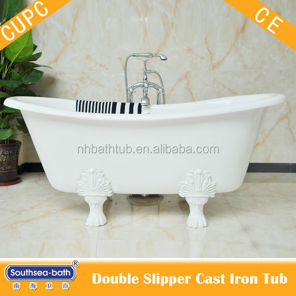 Double slipper freestanding bath for sale used cast iron for Free standing bath tubs for sale