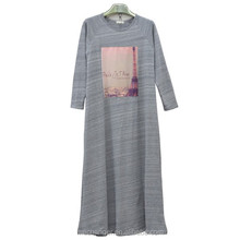 fashion design Knitted Muslim maxi Arabic robes wholesale Islamic clothing muslim long sleeve maxi dress