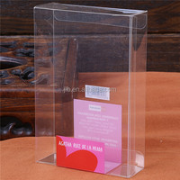 Transparent / clear plastic folding box PVC with full color printing