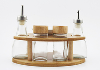natural kitchen bamboo storage jar glass jar