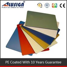 Alusign durable 1.22*2.44m acp bathroom construction material