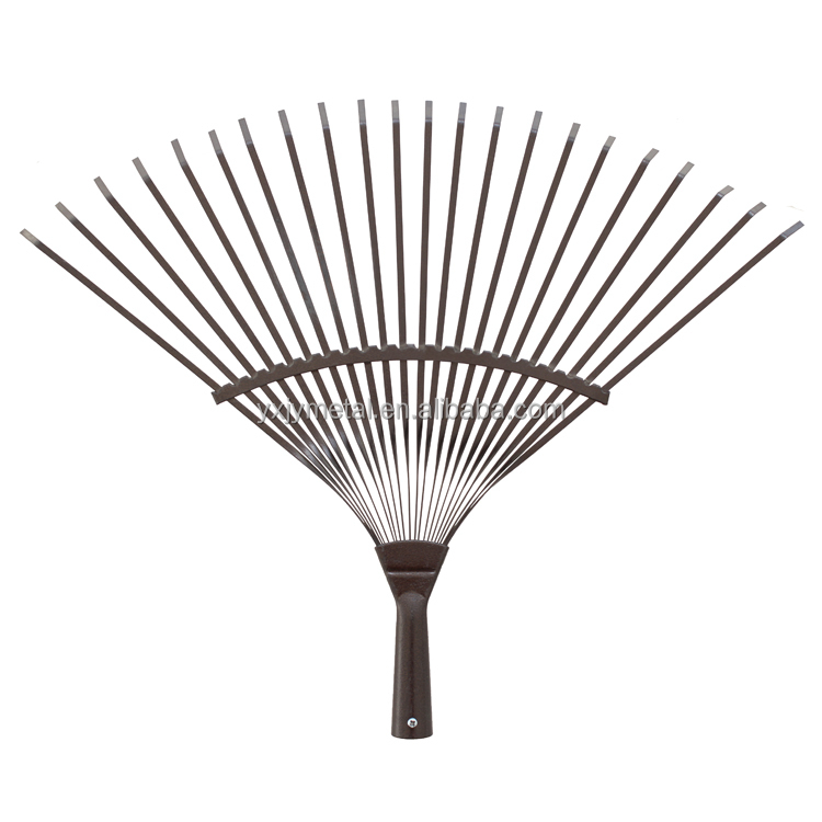 Wholesale high carbon steel metal garden rake steel leaf for Gardening tools jakarta